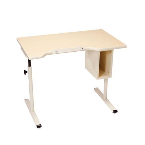 Knob adjusted adjustable student desk with storage