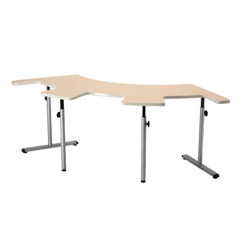 Knob adjusted adjustable therashape table with comfort curves
