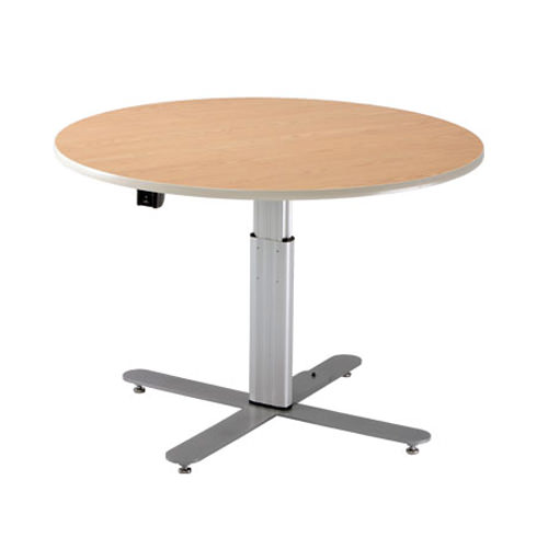 Infinity adjustable large round table - powered
