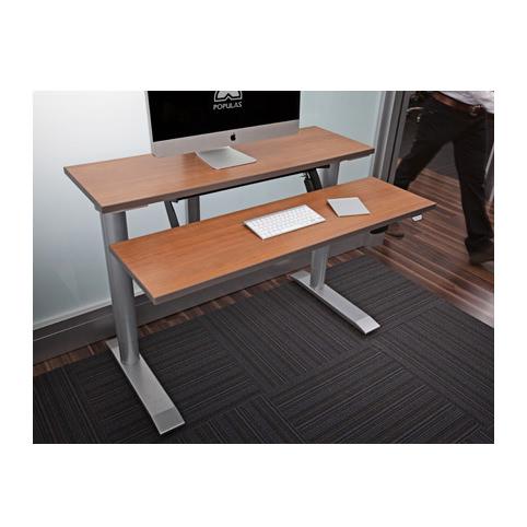 Populas Vox adjustable dual surface workstation