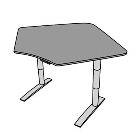 Vox adjustable corner workstation with single surface