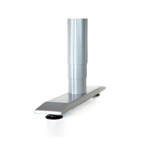 Vox adjustable perfect corner desk - Aluminum telescoping leg