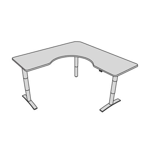 Vox adjustable wrap corner desk