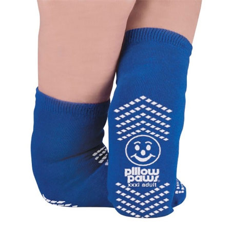 Principle Paws Ankle High Terry Cloth Slipper Socks, Bariatric 3X-Large