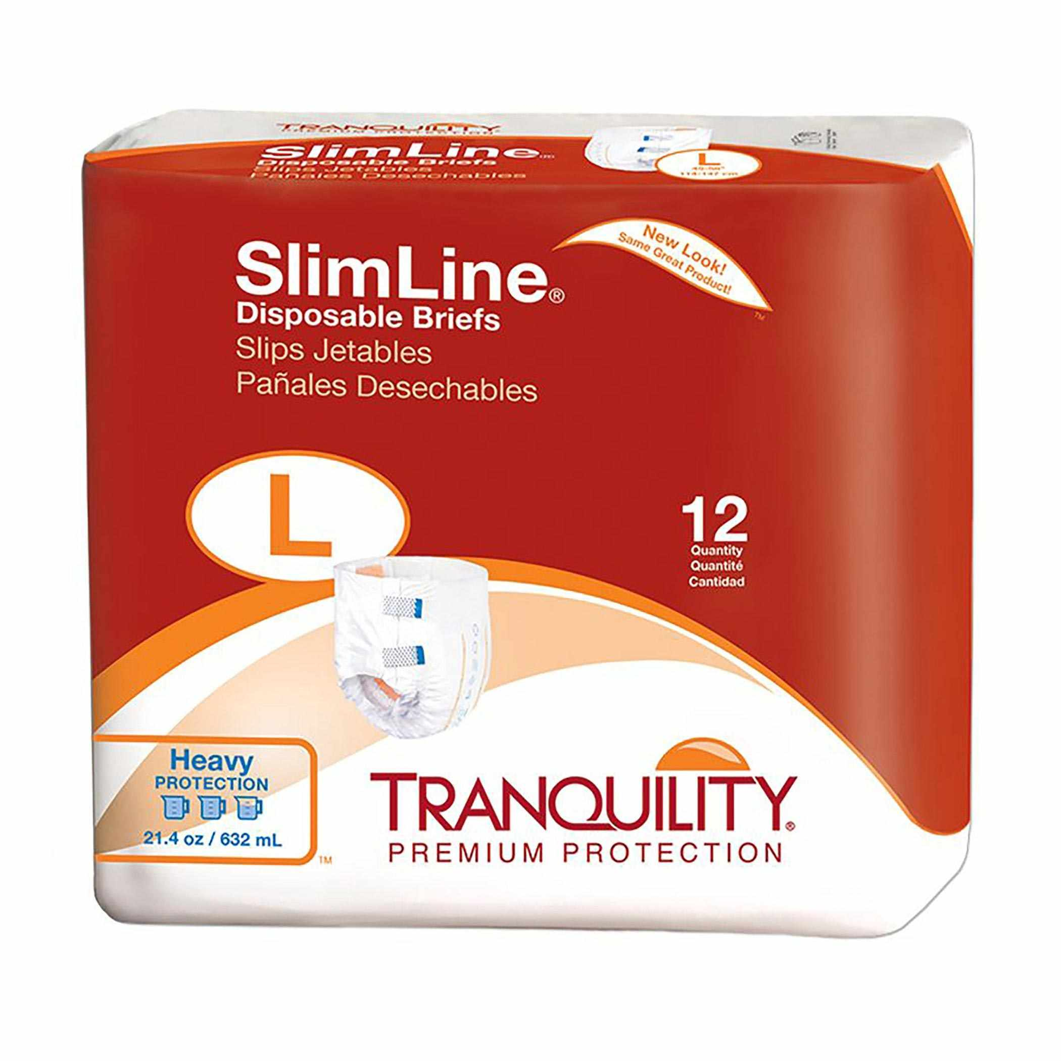 """Tranquility SlimLine Disposable Brief, 45"""" to 58"""""""