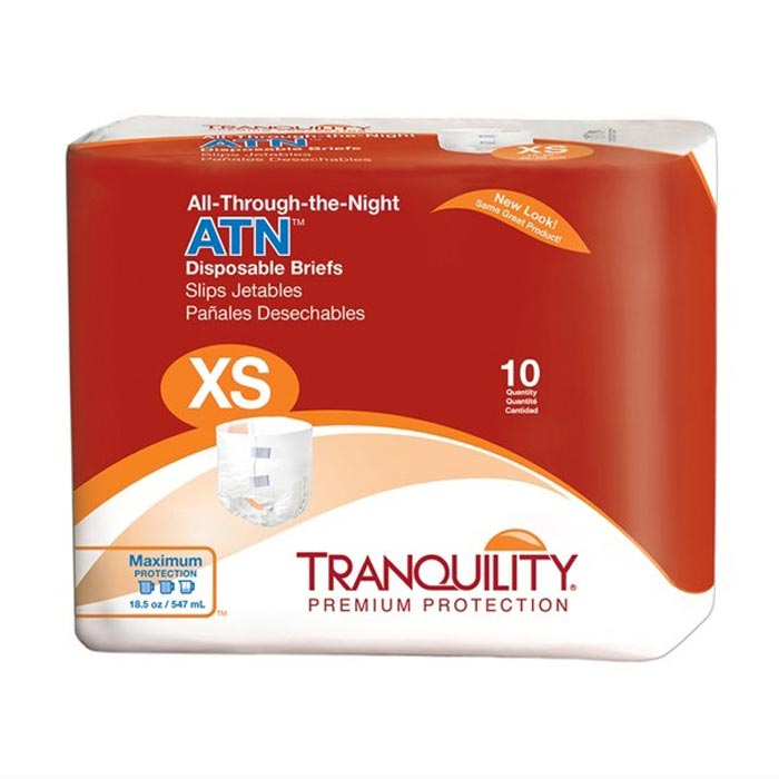 """Tranquility ATN (All-Through-the-Night) Disposable Brief, 18"""" to 26"""""""