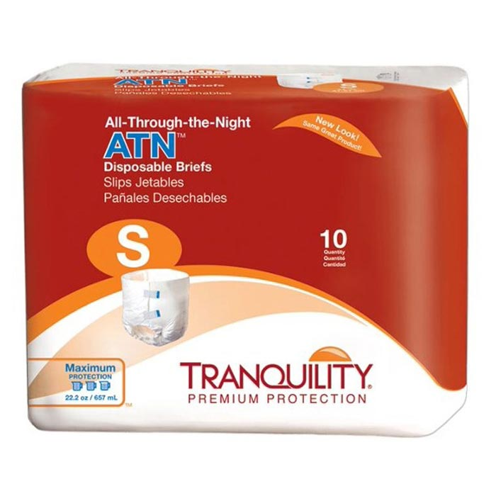 "Tranquility ATN (All-Through-the-Night) Disposable Brief, 24"" to 32"""