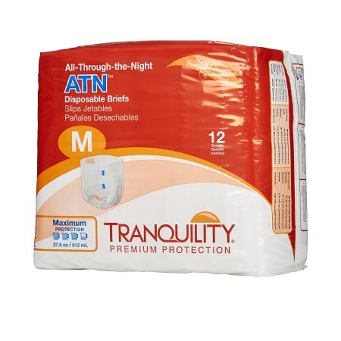 "Tranquility ATN (All-Through-the-Night) Disposable Brief, 32"" to 44"""