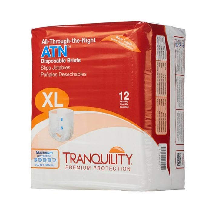 """Tranquility ATN (All-Through-the-Night) Disposable Brief, 56"""" to 64"""""""