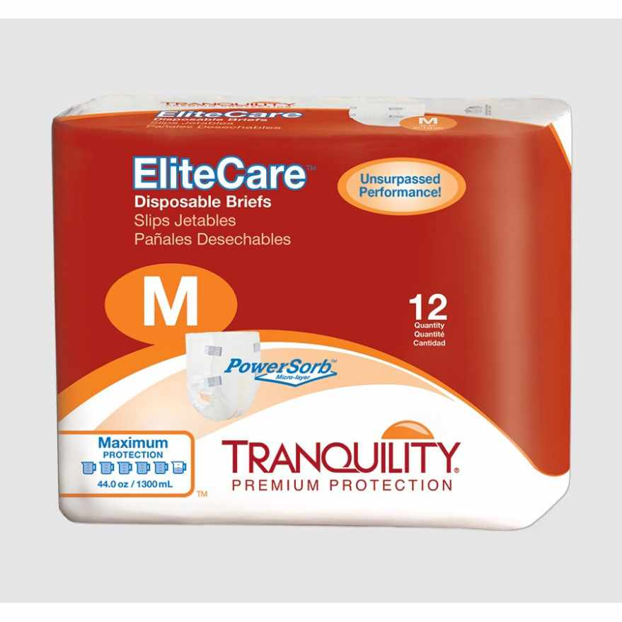 "Tranquility EliteCare Disposable Brief, 56"" to 64"""