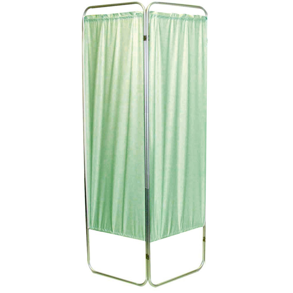 "Presco Standard 2-Panel Privacy Screen, green 6 mm vinyl, 35"" W x 68"" H"