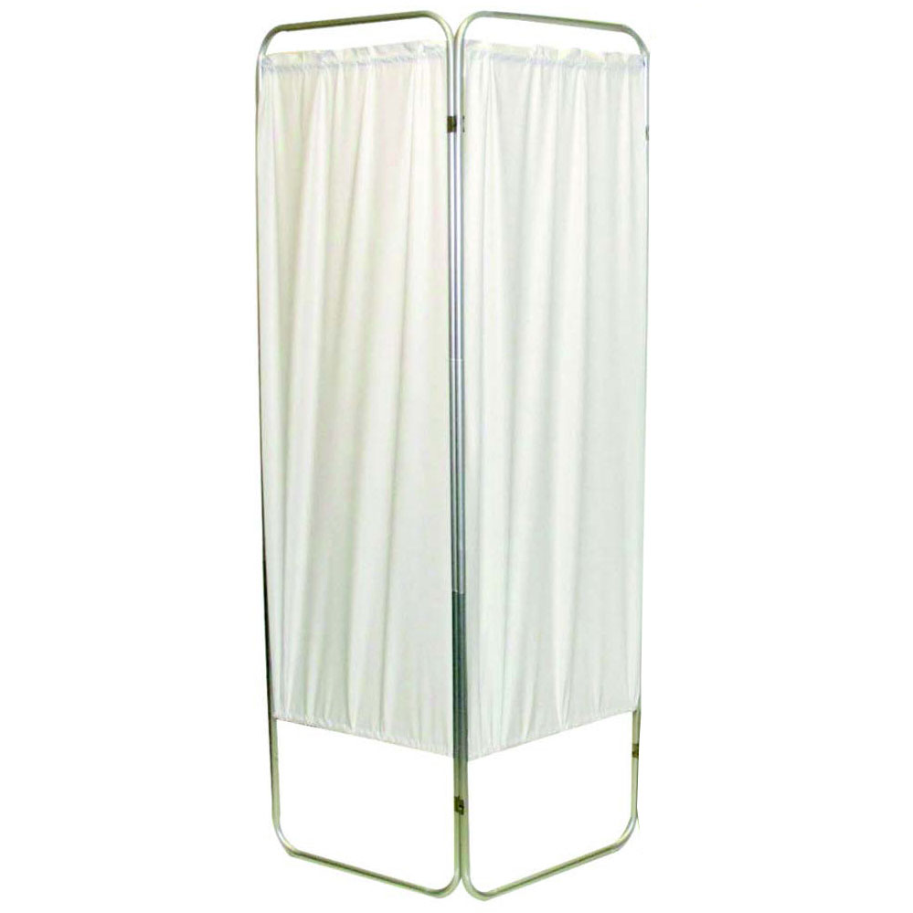 "Presco Standard 2-Panel Privacy Screen, White 6 mm Vinyl, 35"" W x 68"" H"