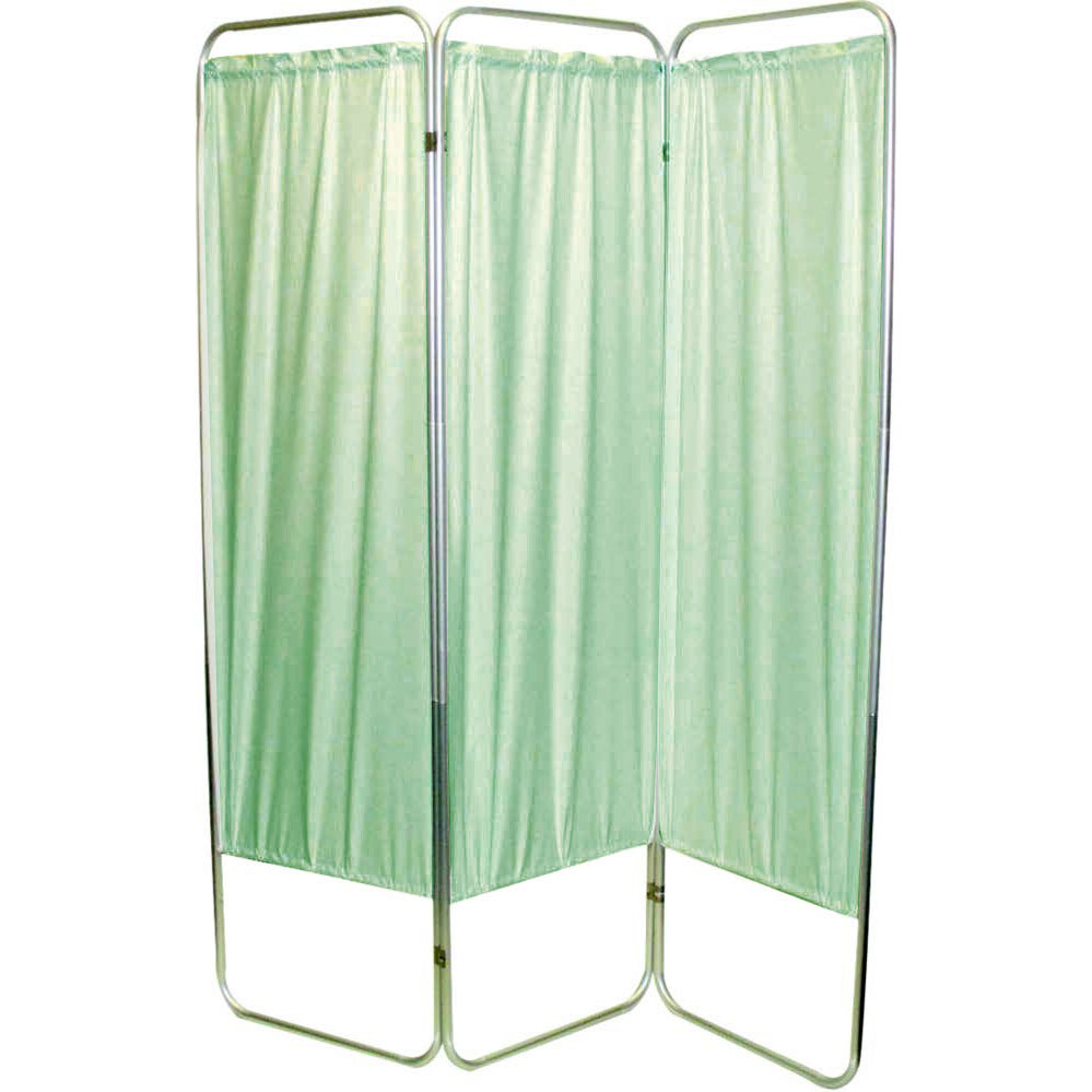 "Presco Standard 3-Panel Privacy Screen, green 6 mm Vinyl, 48"" W x 68"" H"