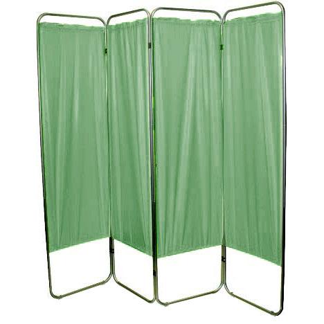 "Presco Standard 4-Panel Privacy Screen, green 6 mm Vinyl, 62"" W x 68"" H"