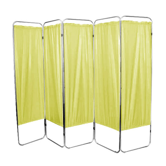 "Presco Standard 5-Panel Privacy Screen, yellow 4 mm Vinyl, 84"" W x 68"" H"