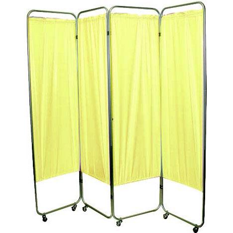 Presco Standard 4-Panel Privacy Screen with casters, vinyl
