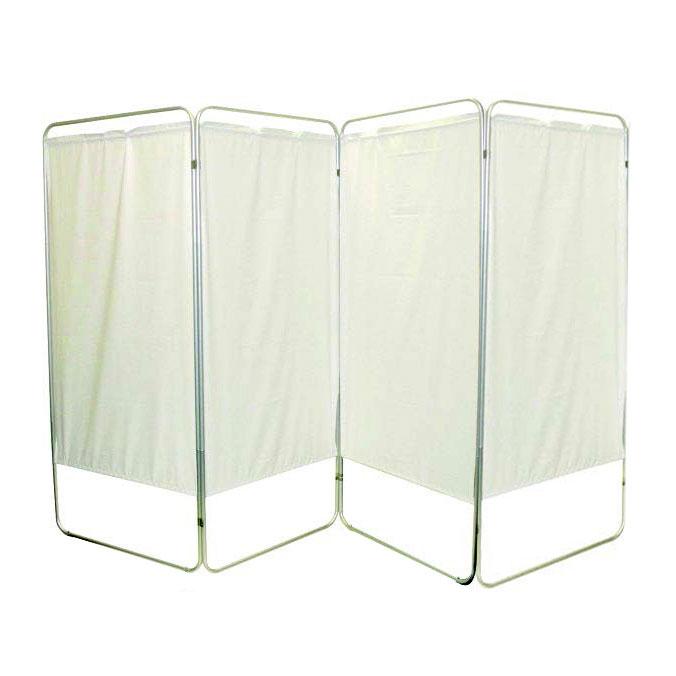"""Presco King Size 4-Panel Privacy Screen, 6 mm white, 113"""" W x 68"""" H"""