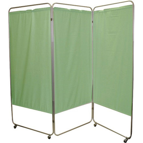 Presco King Size 3-Panel Privacy Screen with casters vinyl
