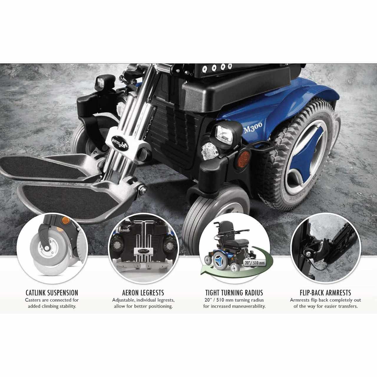 Permobil M300 Ps Junior Power Wheelchair | Pediatric Power Wheelchair