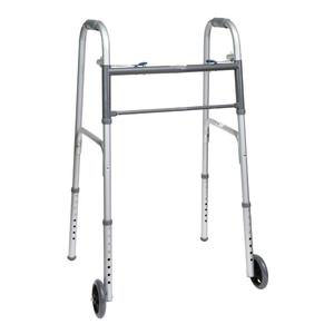 """ProBasics Economy Two-Button Steel Patient Walker with 5"""" Wheels"""