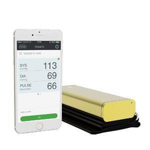 Qardio Arm Smart Blood Pressure Monitor, Gold