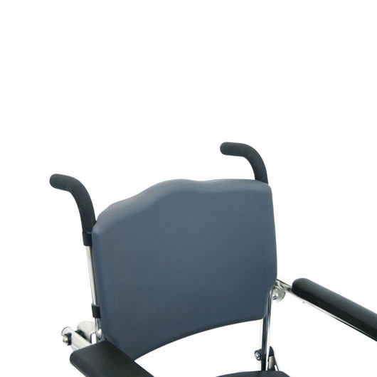 Attendant propelled shower commode chair