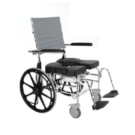 Raz design SP600 bariatric rehab shower commode chair