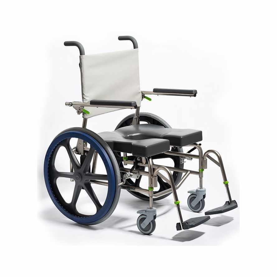 Raz design SP600 bariatric rehab shower commode chair