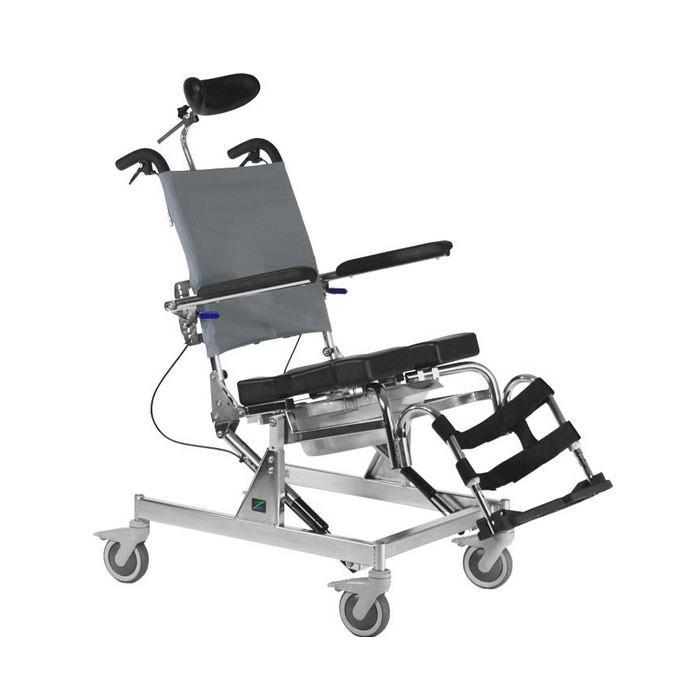 Raz Attendant tilt shower commode chair