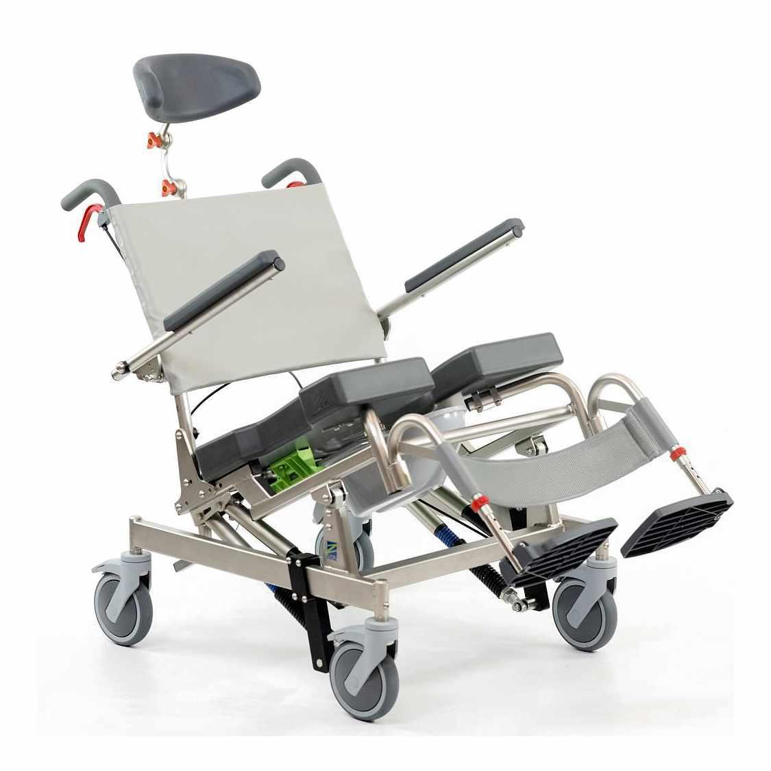 Raz design AT600 bariatric tilt-in-space rehab shower commode chair