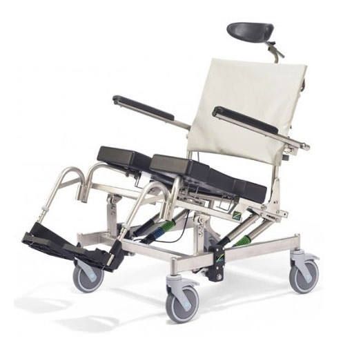Raz design AT600 bariatric tilt-in-space rehab shower commode chair
