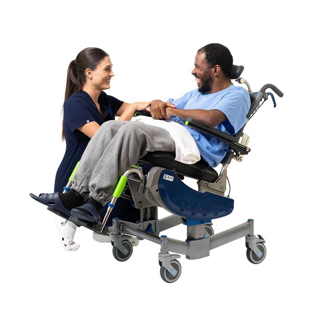 Raz Design Attendant Rotational Tilt Shower Commode Chair