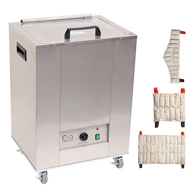 Relief Pak Heating Unit, Mobile With 3 Standard, 3 Neck, 3 Oversize Packs, 220V