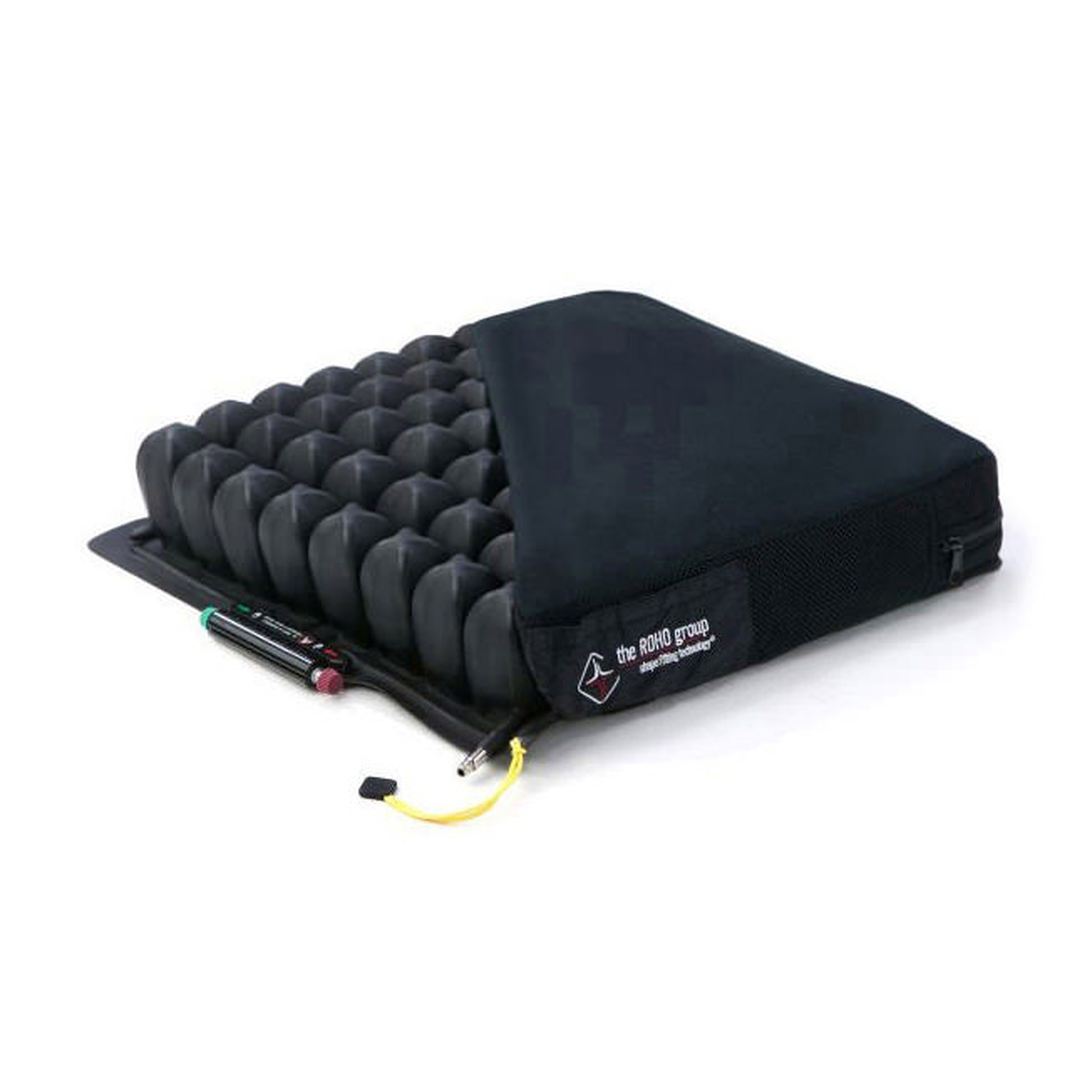 Roho Quadtro select mid profile cushion with cover