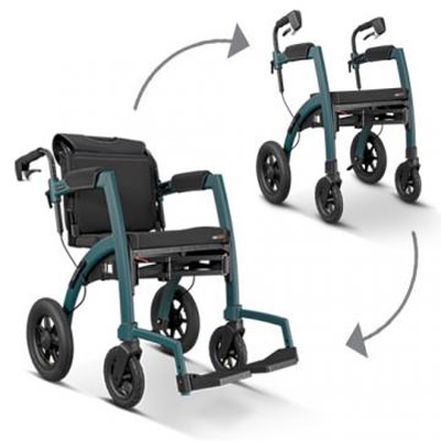Rollz Motion Performance Rollator and Transport Chair