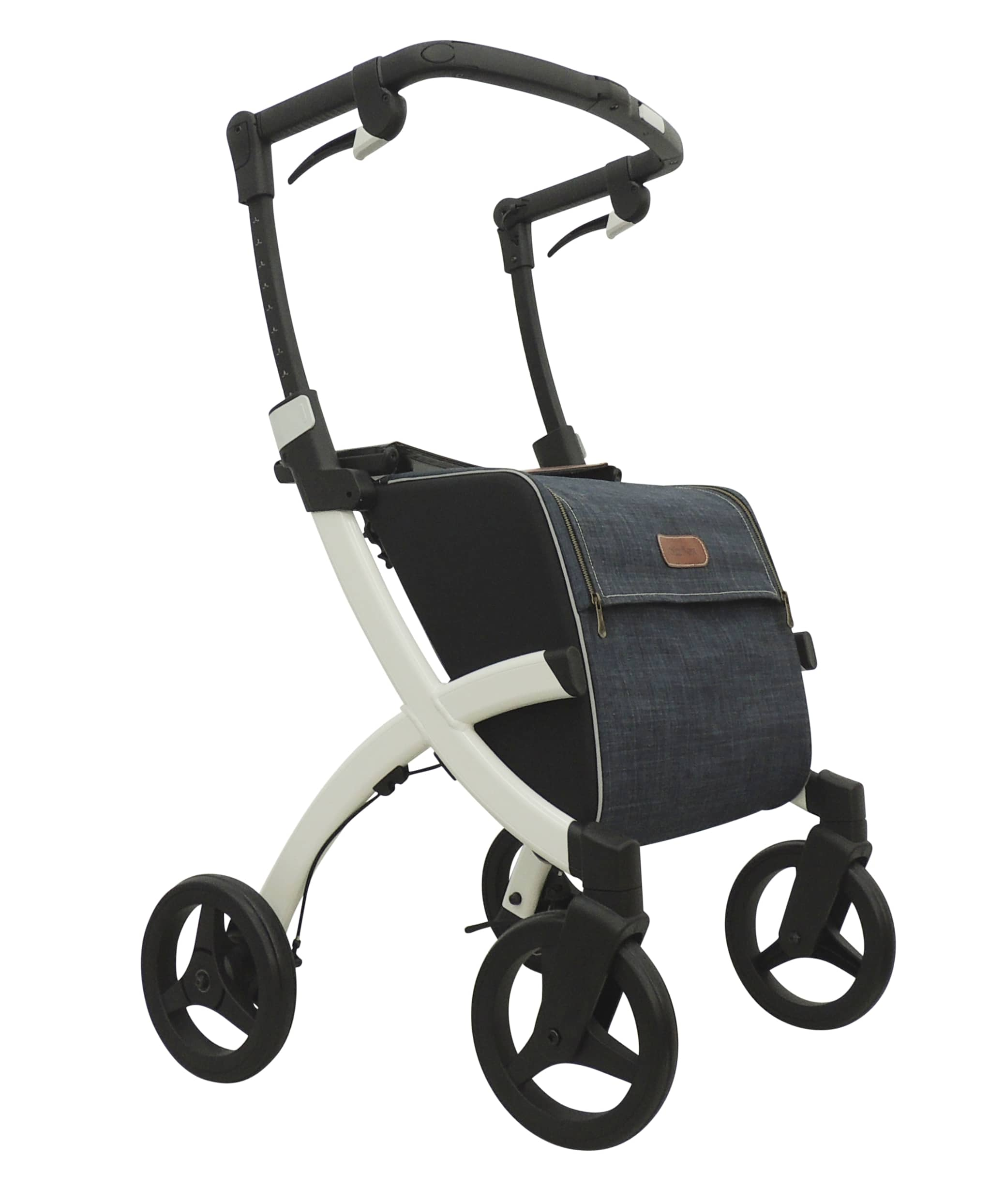 Rollz flex rollator - Denim grey bag and black seat