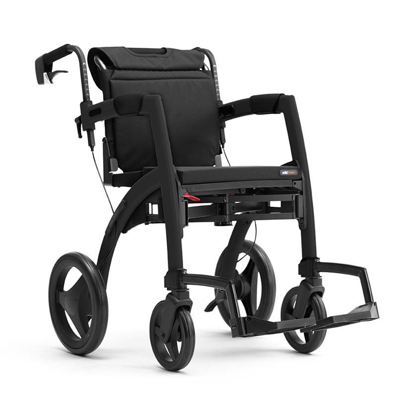 Rollz Motion2 Rollator And Transport Chair - Black