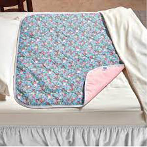 """CareFor Deluxe Designer Print Reusable Underpad, Latex-free, Floral Print, 23"""" x 36"""""""