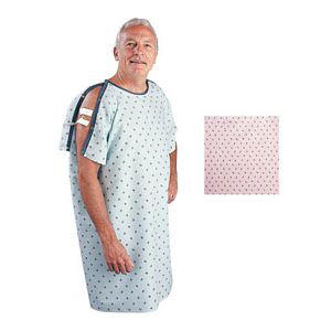 Salk The Comfort Collection Patient Gown, One Size, Pink Rosebud