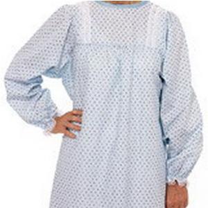 Salk LadyLace Long Sleeve Patient Gown, Garden Print