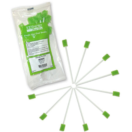 Sage Products Oral Swabstick Toothette Foam Tip Untreated