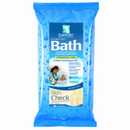 Sage Products Bath Wipe Comfort Bath Soft pack Aloe/Vitamin E Unscented 8 Count