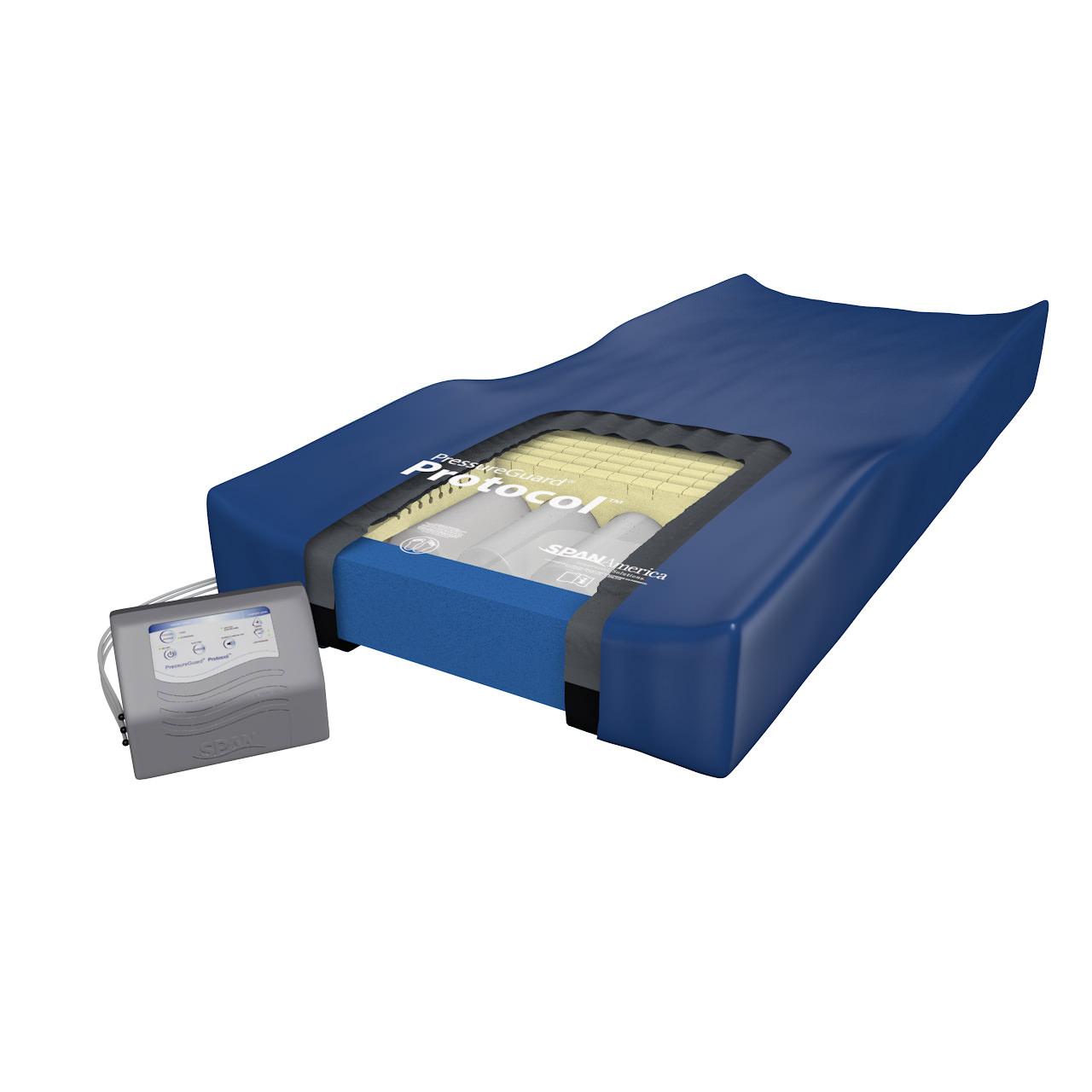 Span America PressureGuard Protocol mattress with raised edges