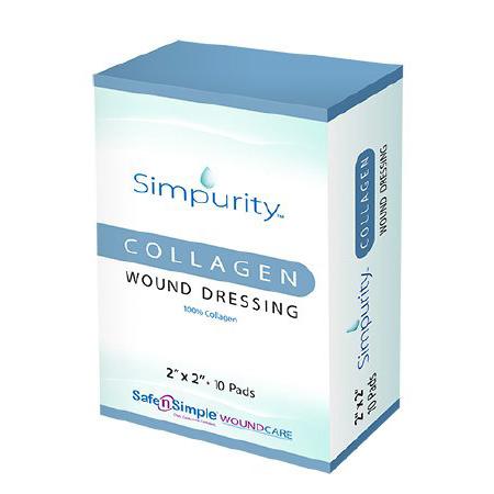 """Simpurity Collagen Wound Dressing, 2"""" x 2"""""""