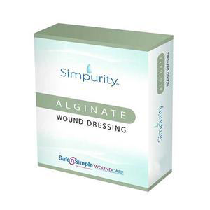 "Simpurity Alginate Wound Dressing, 4"" x 8"""