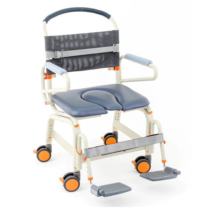 Showerbuddy Roll-Inbuddy Lite Bariatric Shower Commode Chair| Heavy Duty Shower/Commode Chair