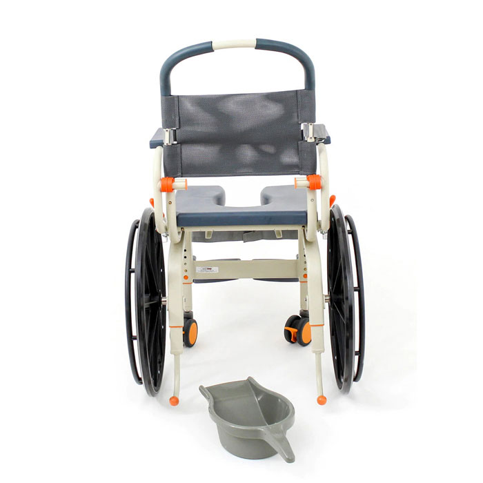 ShowerBuddy roll-inbuddy solo chair side view
