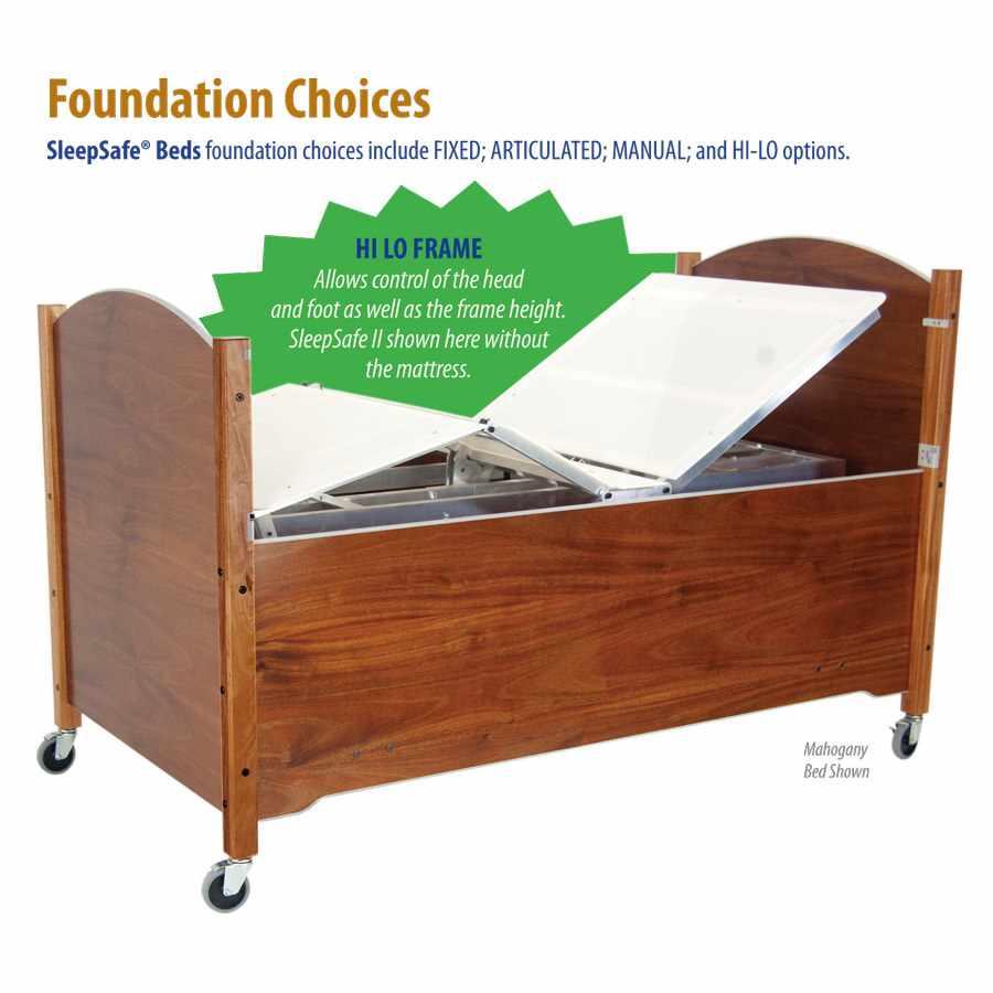 SleepSafe2 medium height adjustable bed