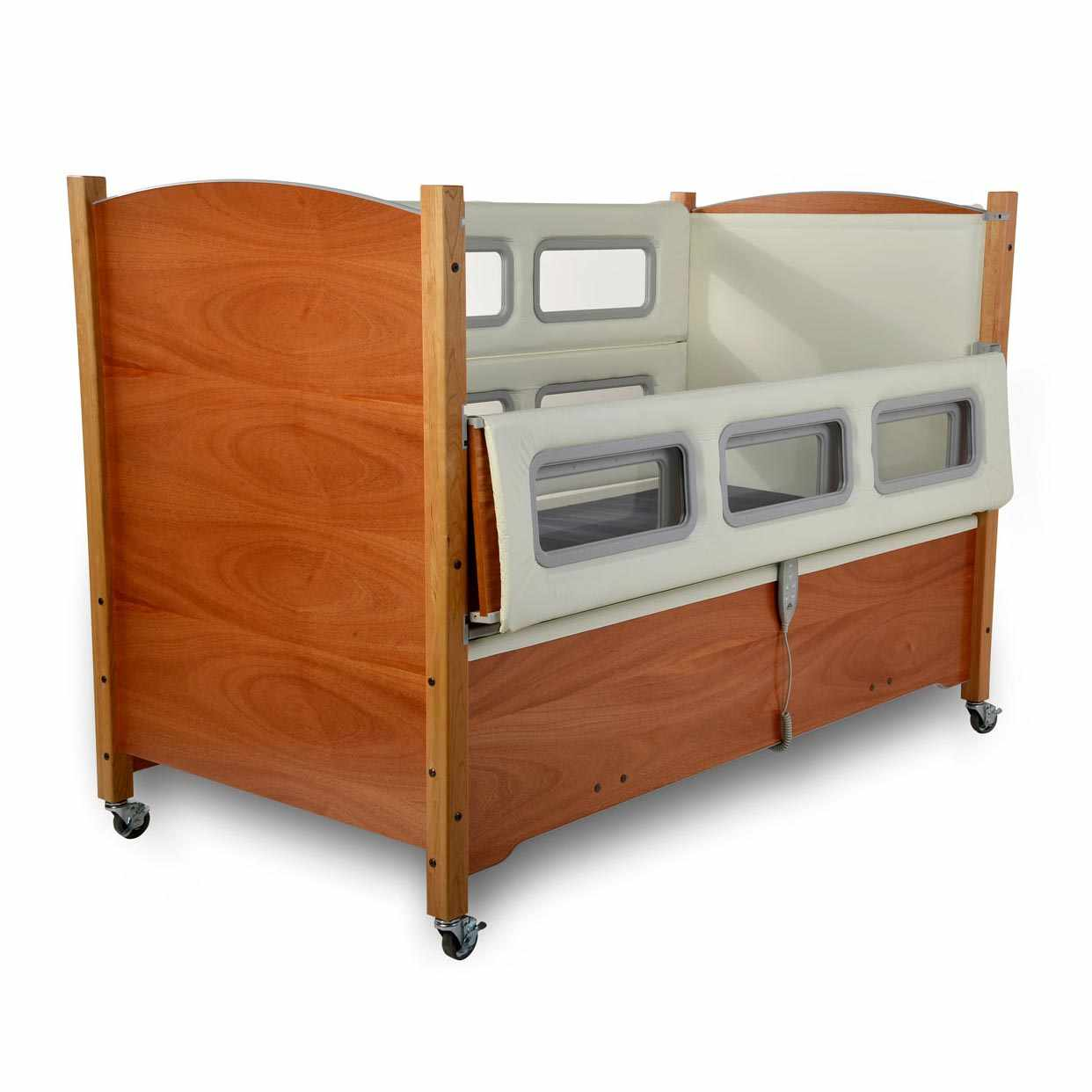 SleepSafer electric tall bed hi-lo with dual view
