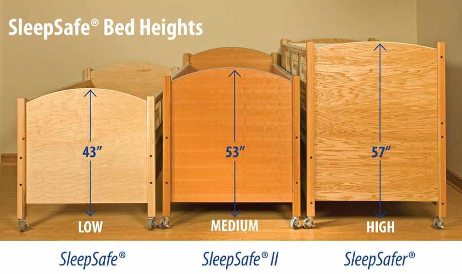 SleepSafer manual height adjustable bed